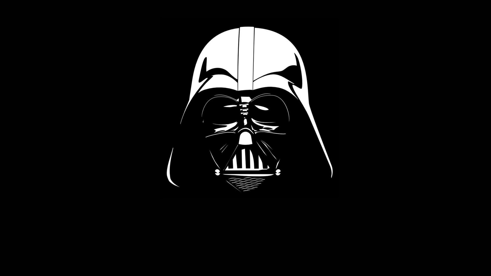 Darth Vader helmet  black  white  star wars   HD  HD Wallpaper