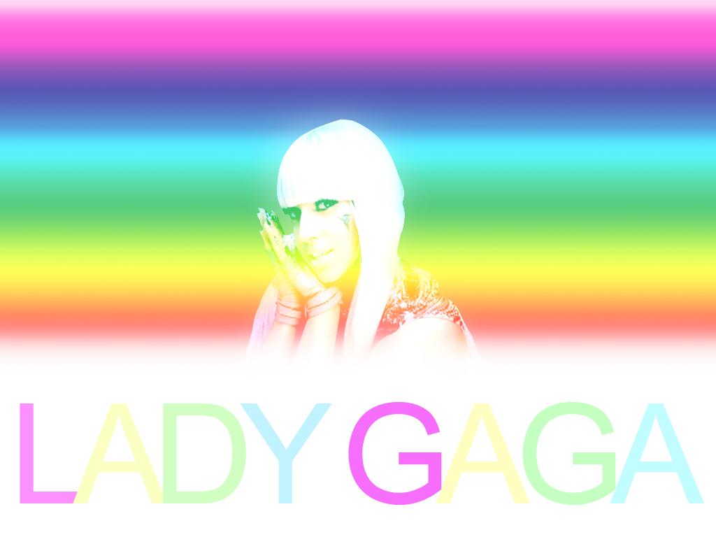 Lady Gaga Rainbow HD Pictures Lady Gaga Art Design    HD Wallpaper
