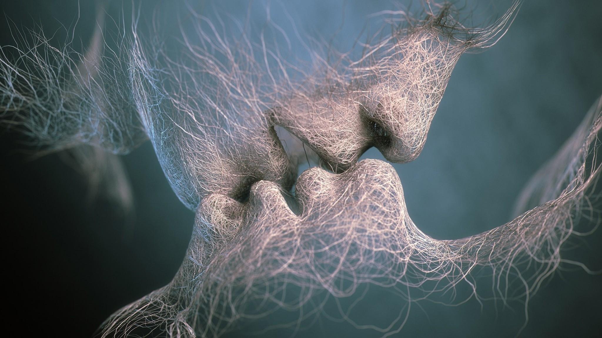 Man  Kiss  Woman  Adam  Art  Last Kiss  3D   Free HD  HD Wallpaper