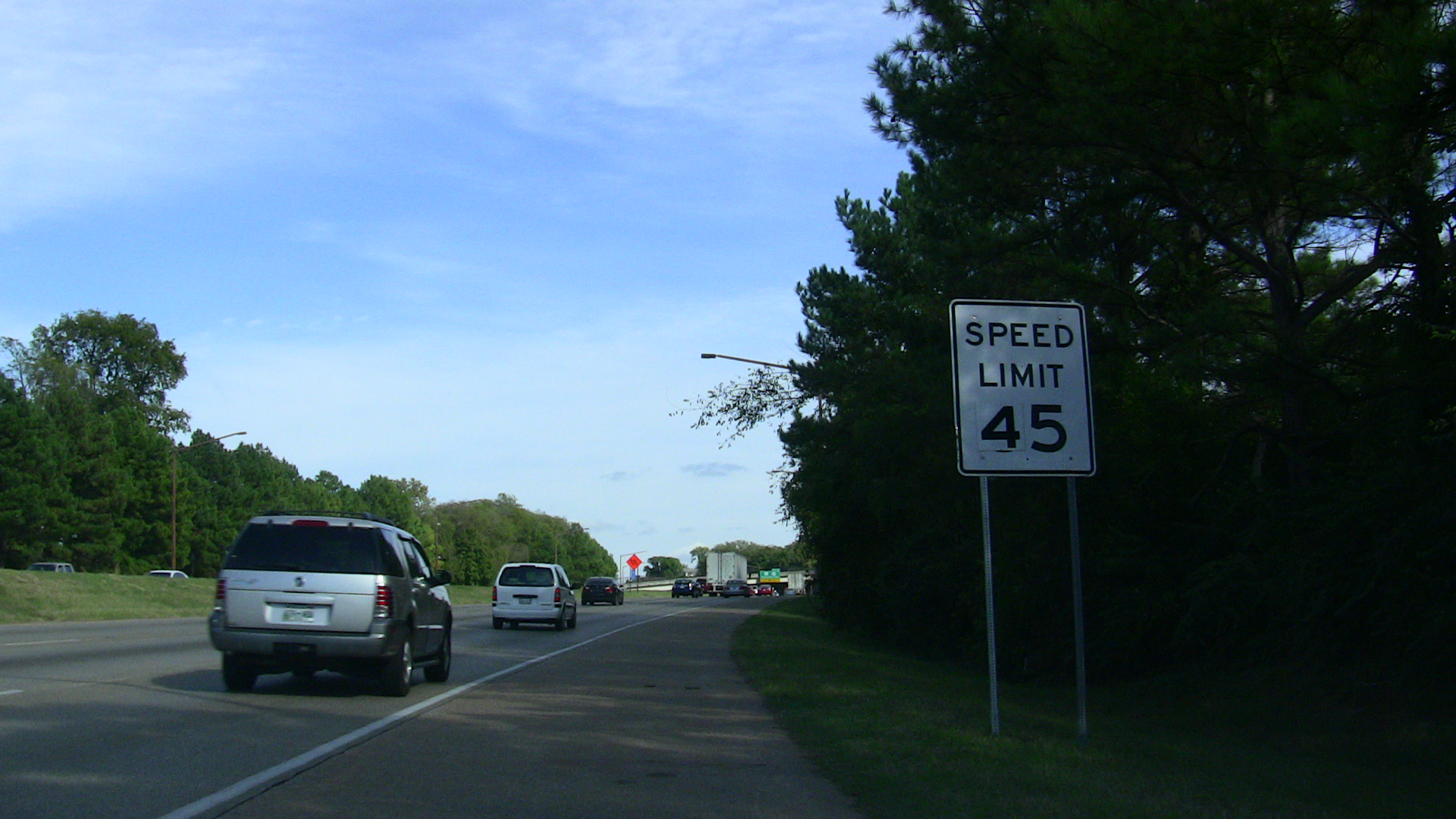 File Speed Limit 45 Sign on Interstate 440  Tennessee  HD Wallpaper