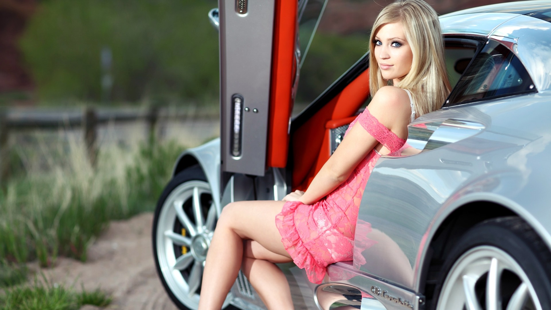 The Images of Blondes Legs Women Cars Blue Eyes Spyker Girls With HD Wallpaper