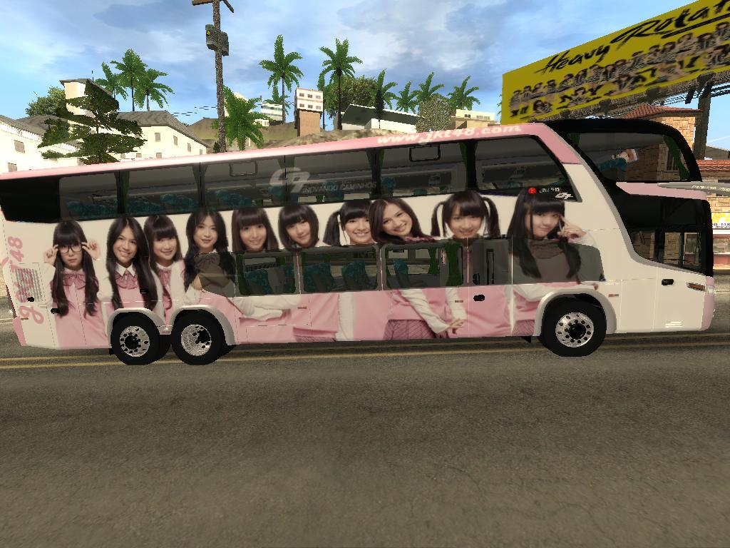 GTA   San Andreas JKT48 Mod  New JKT48 Bus  Pink    JKT48 and 48 HD Wallpaper