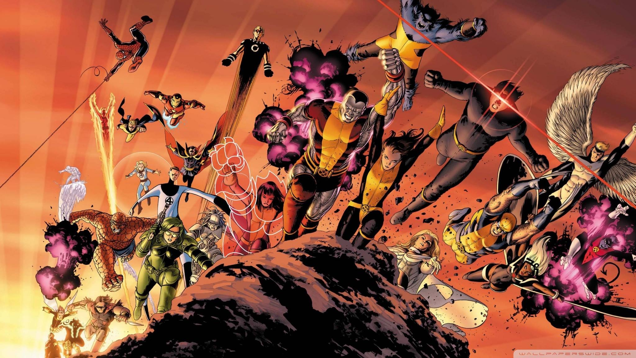 Superheroes Cartoons HD desktop    High Definition   Mobile HD Wallpaper
