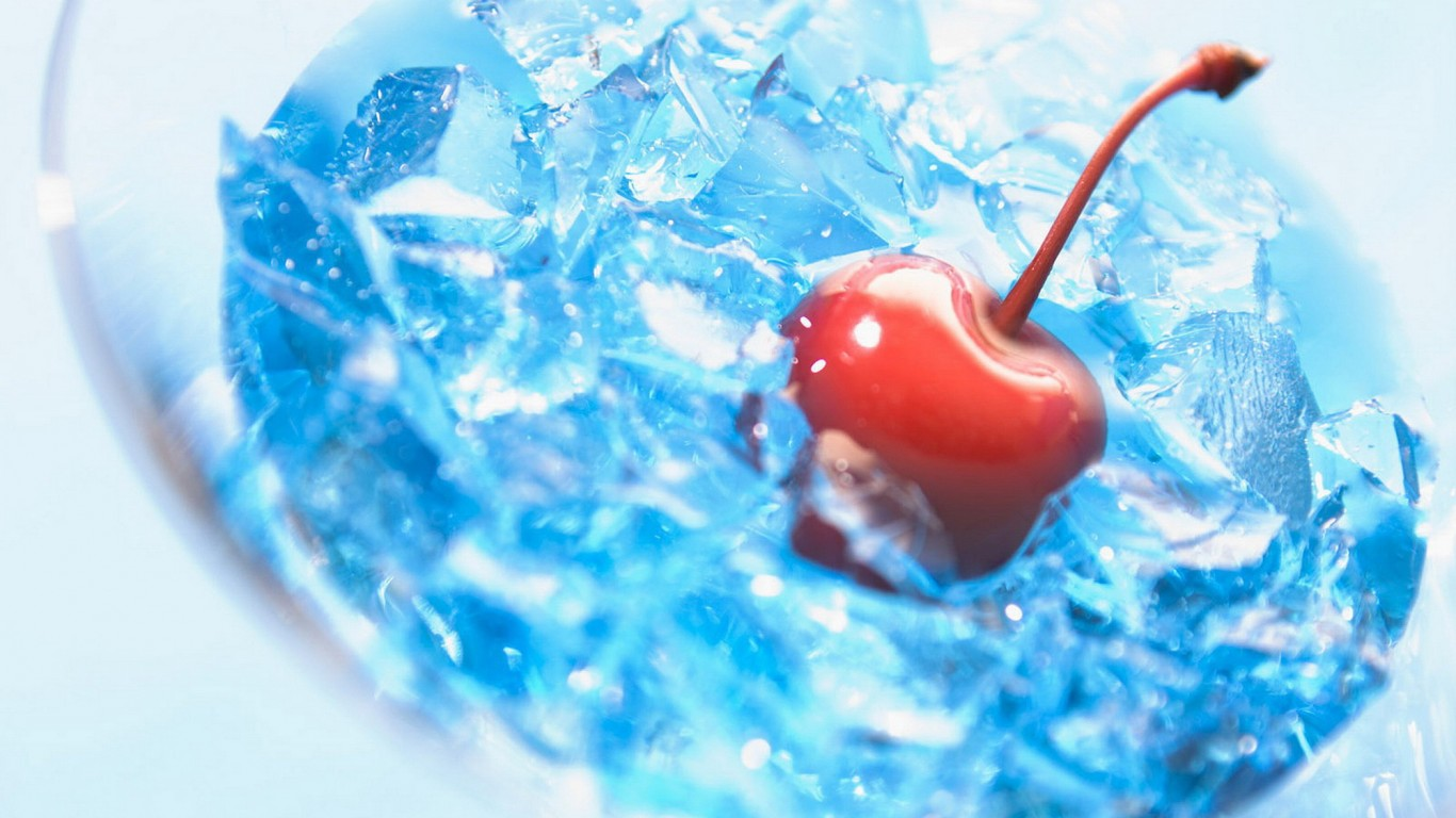 Cherry in ice    Shop HD Wallpaper