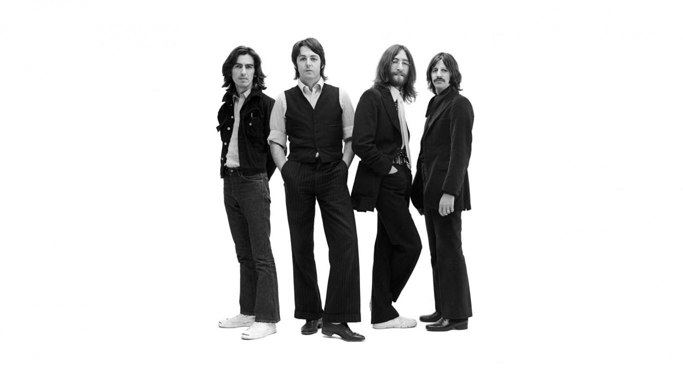 The beatles  band  members  suits  background   HD Desktop  HD Wallpaper