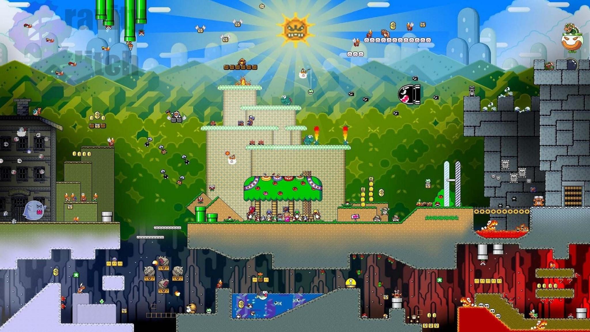Super Mario World Adventure Entertainment Fun Game Mario Nintendo HD Wallpaper