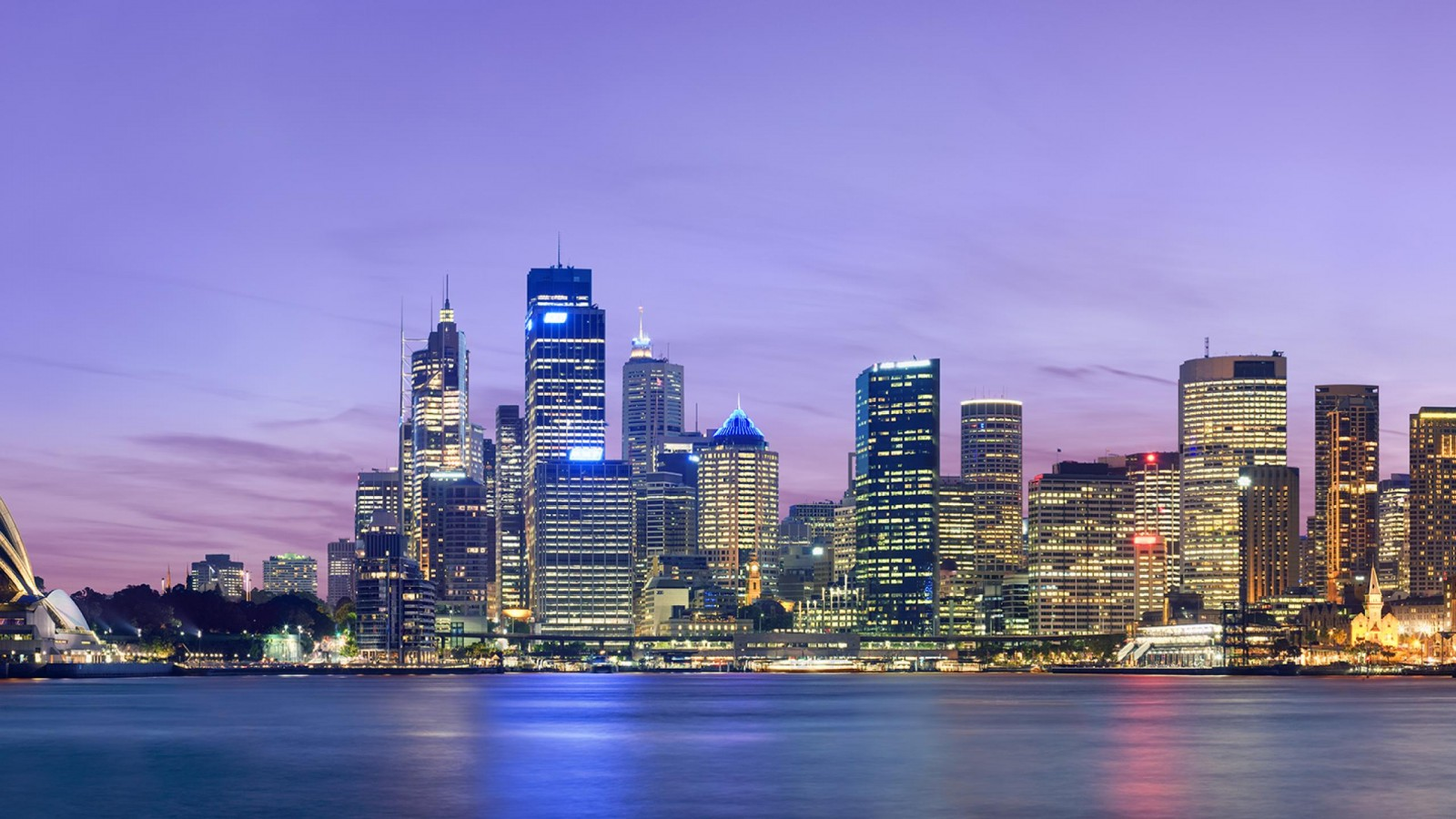 sydney skyline dusk australia    on line HD Wallpaper
