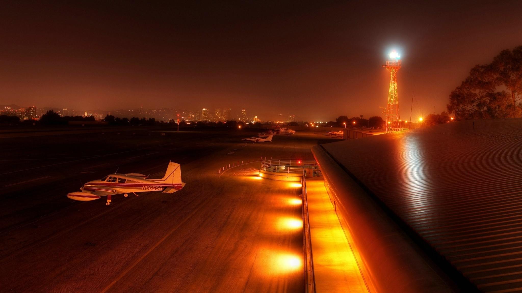 Aeroporto di Santa Monica  Los Angeles  California   Sfondi HD Wallpaper
