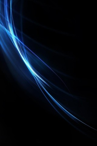 Free Download Abstract blue light energy iPhone HD  HD Wallpaper