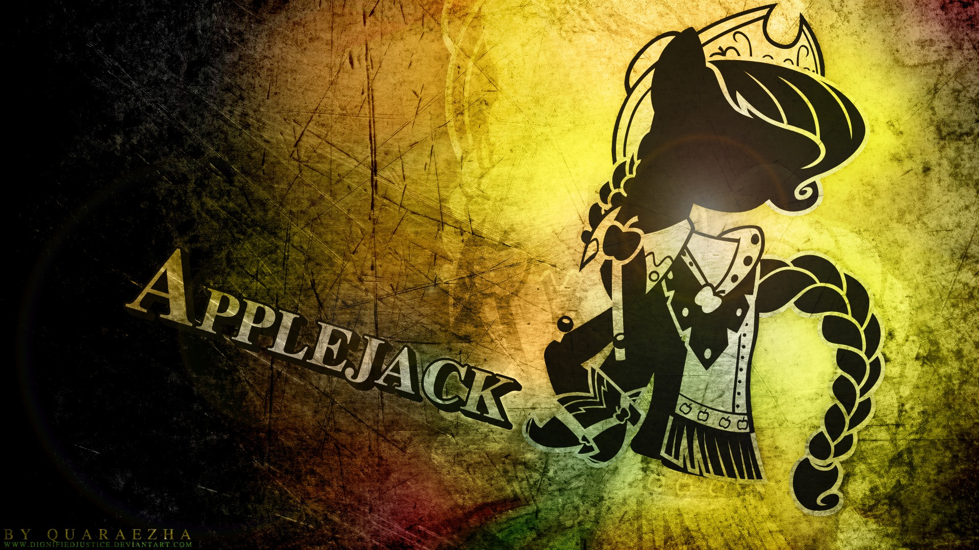 Grunge my little pony applejack  HD Wallpaper