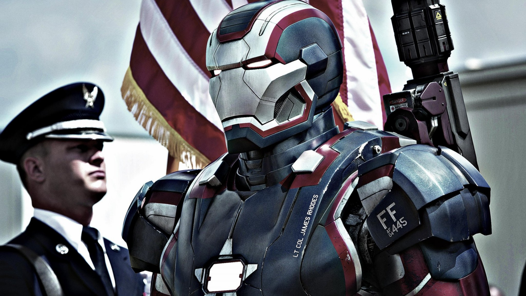 Iron Patriot In Iron Man 3 Movie   Desktop  free HD Wallpaper