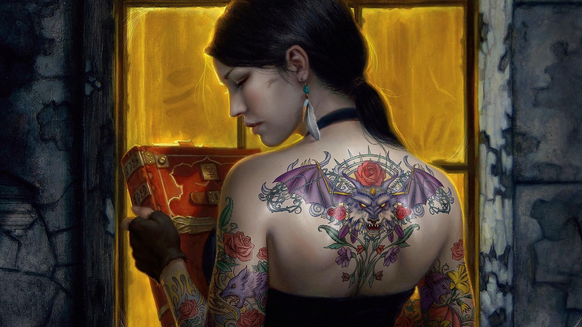 tattooed lady  Background   27218 HD Wallpaper