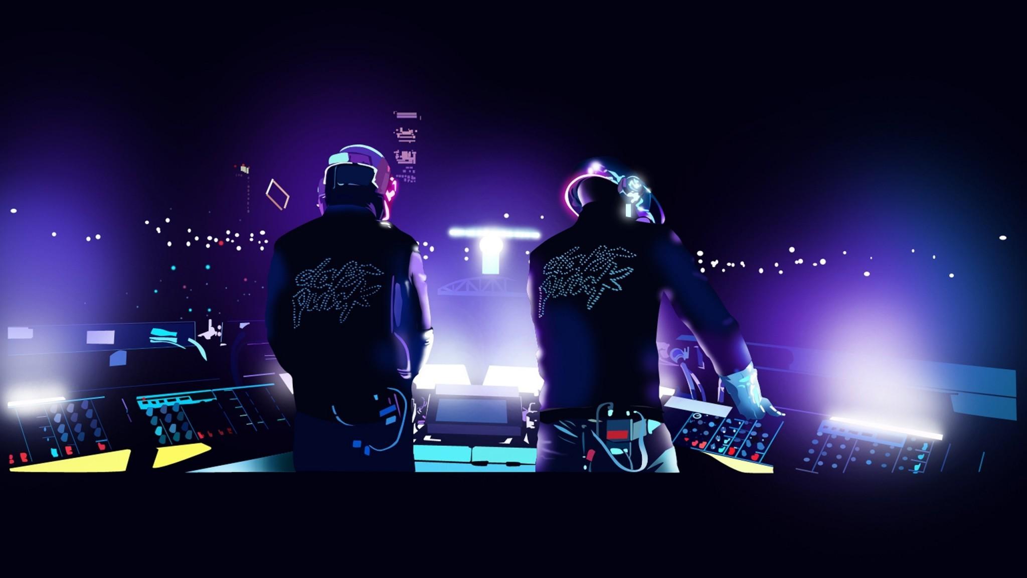 Daft Punk Style Elecrto Club Wide   skipwall  HD Wallpaper