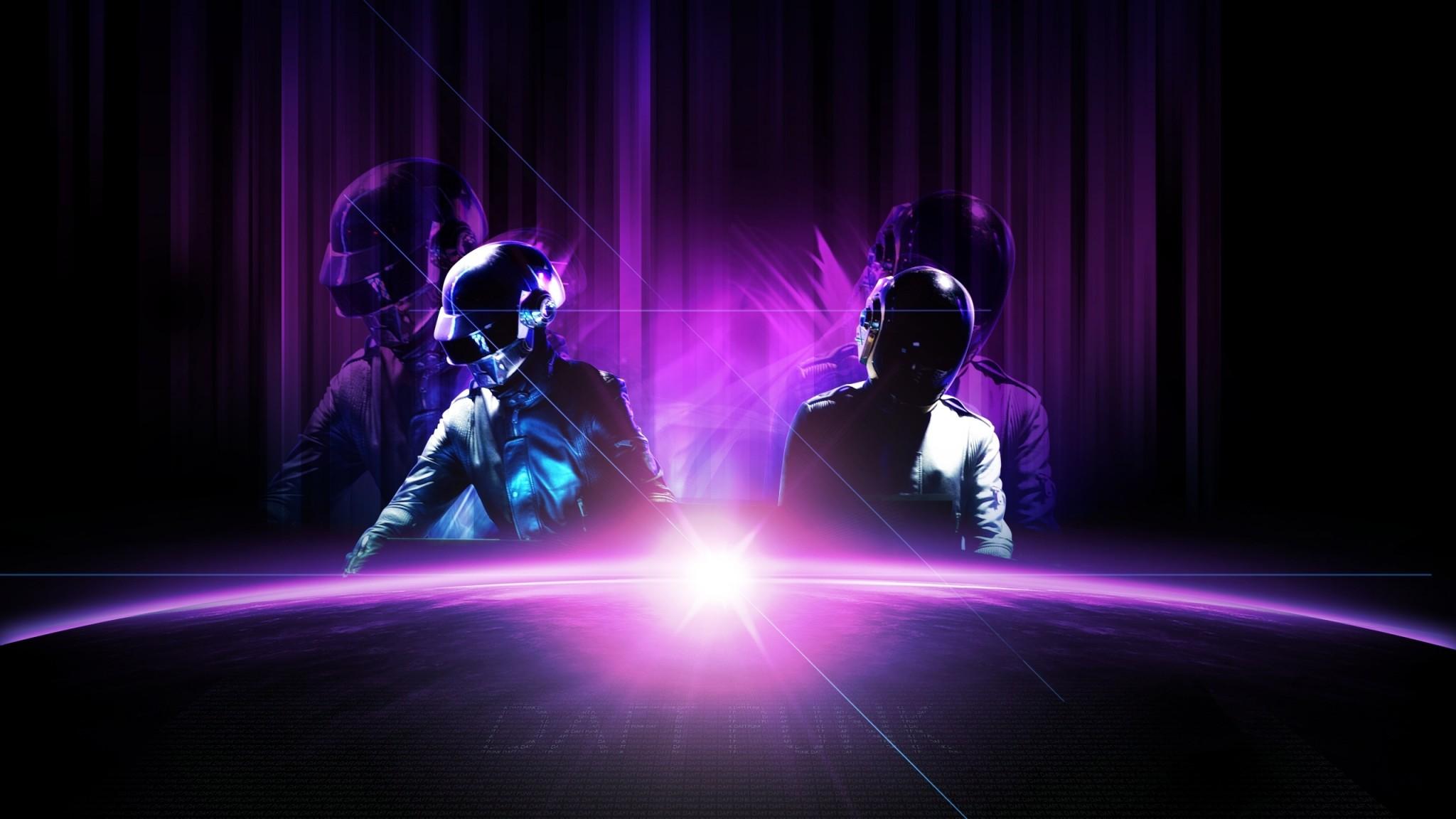 Daft Punk Musicians Wide    HD HD Wallpaper