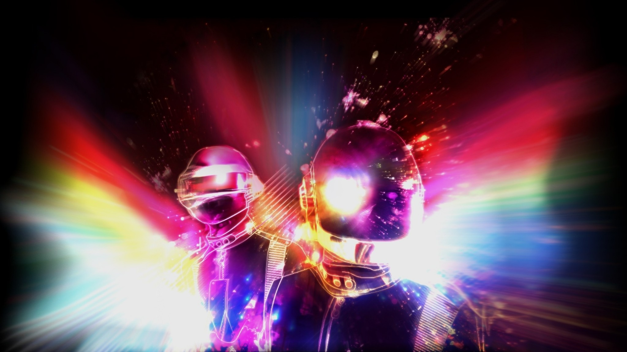 Daft Punk Band Members Energy Light   aa  HD Wallpaper