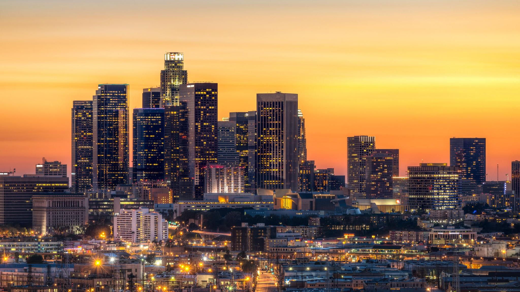 Los Angeles Skyline   Sfondi per computer HD Wallpaper