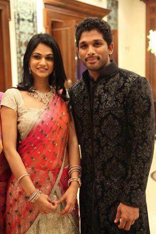 Allu arjun and Sneha reddy   Facebook HD Wallpaper