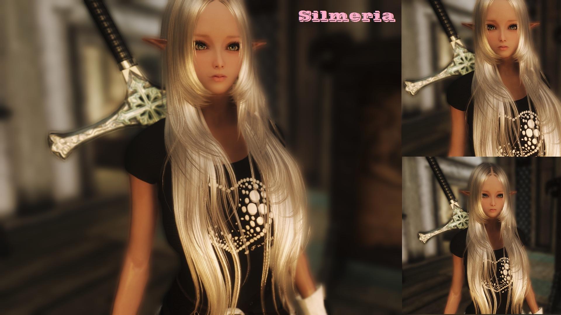 My beautiful girl Silmeria 60 Dark Elf   Skyrim Uploaded Images HD Wallpaper