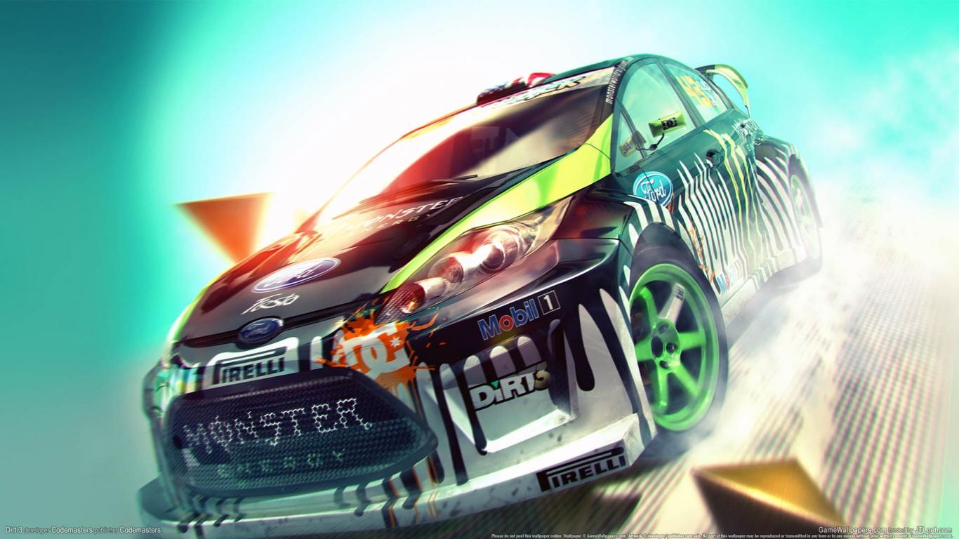 Ford fiesta  ken  block  monster  energy  race  sand  dirt 2 HD Wallpaper