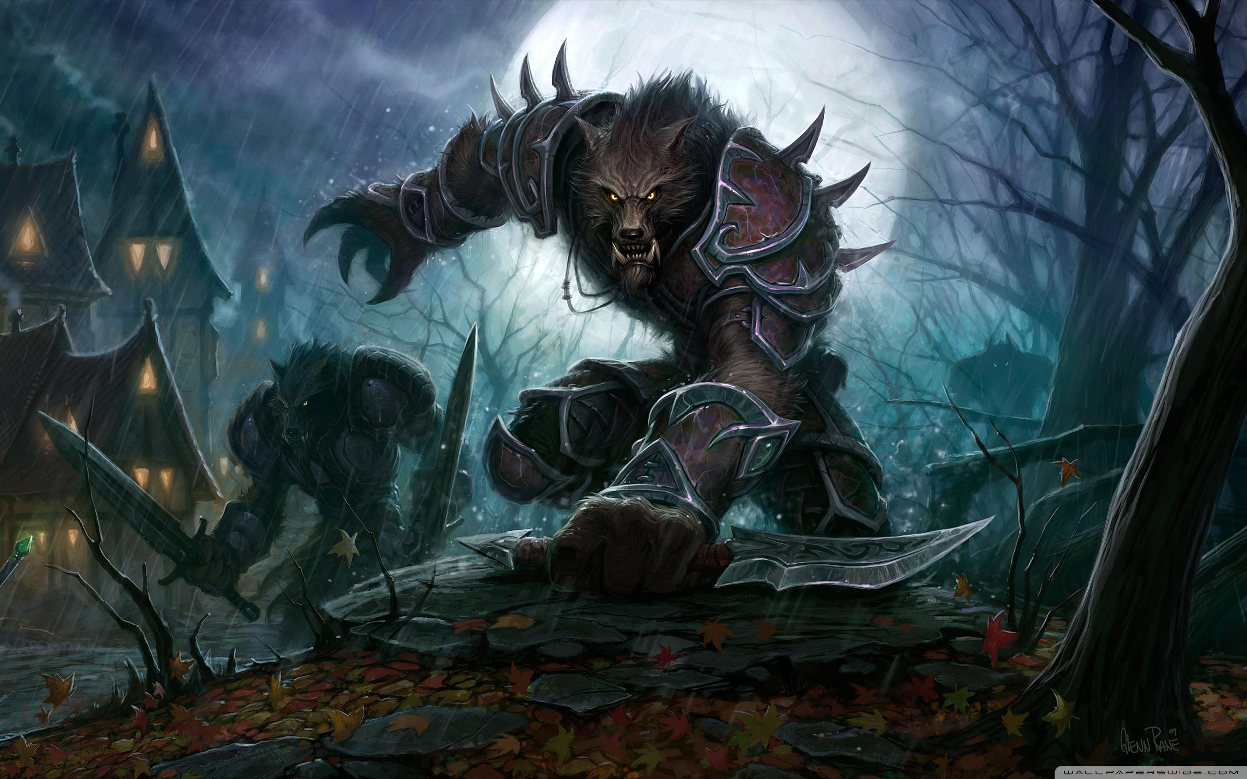 World Of Warcraft Cataclysm Inferno Wow Worgen Hd HD Wallpaper