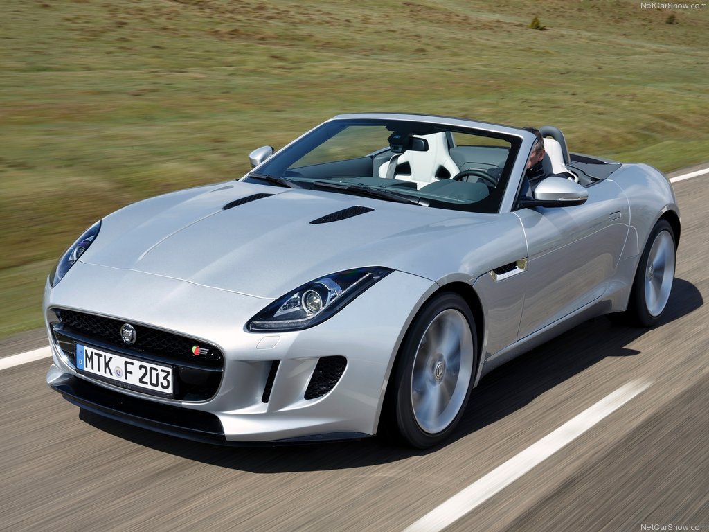 Jaguar F Type V6 S picture   08 of 158  Front Angle  MY 2014  1024x768 HD Wallpaper