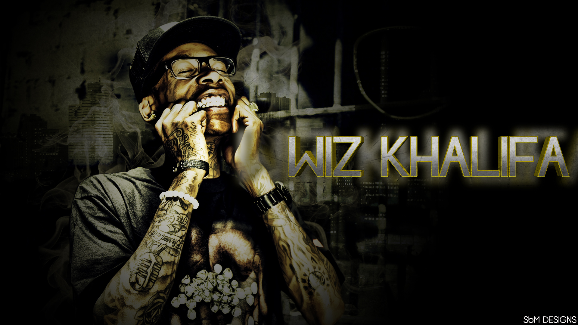 Wiz Khalifa  by  SBM832 on deviantART HD Wallpaper