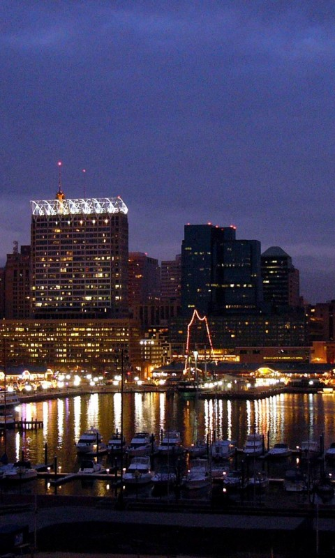baltimore skyline    on line HD Wallpaper