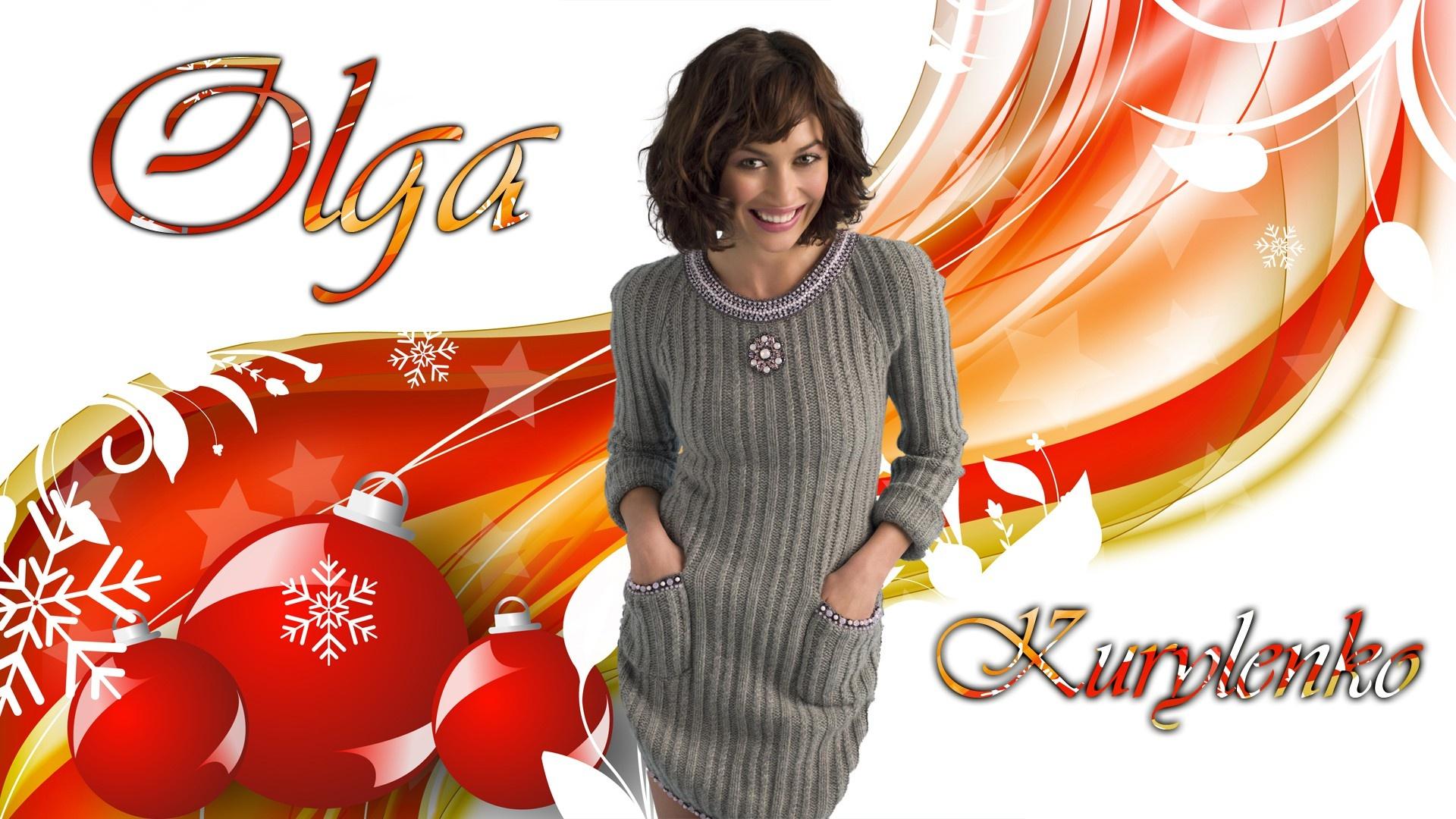 Olga kurylenko  christmas       393838 HD Wallpaper