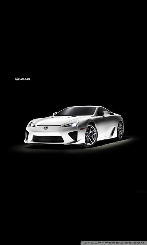 Lexus LFA White HD desktop    High Definition   Mobile HD Wallpaper