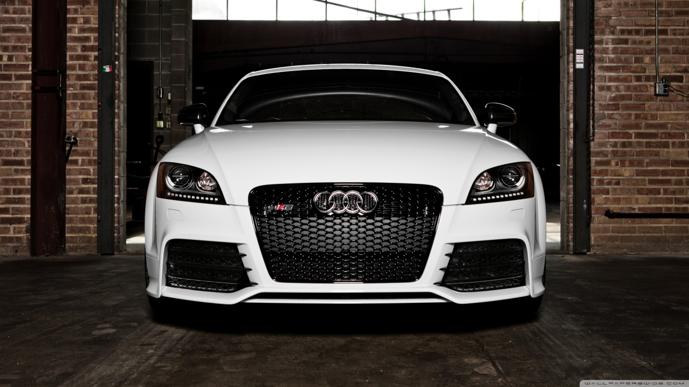 2012 White Audi TT RS Coupe in warehouse   Audi Exchange HD Wallpaper