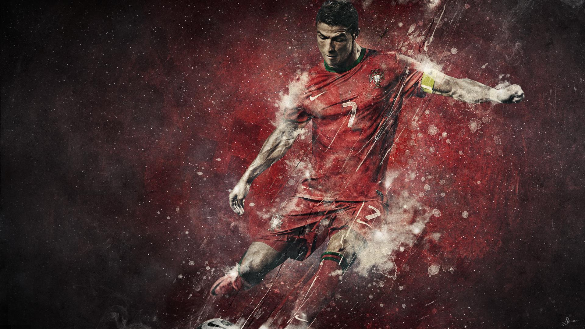 Cristiano Ronaldo   Studioluko   Graphic Design   Illustration HD Wallpaper