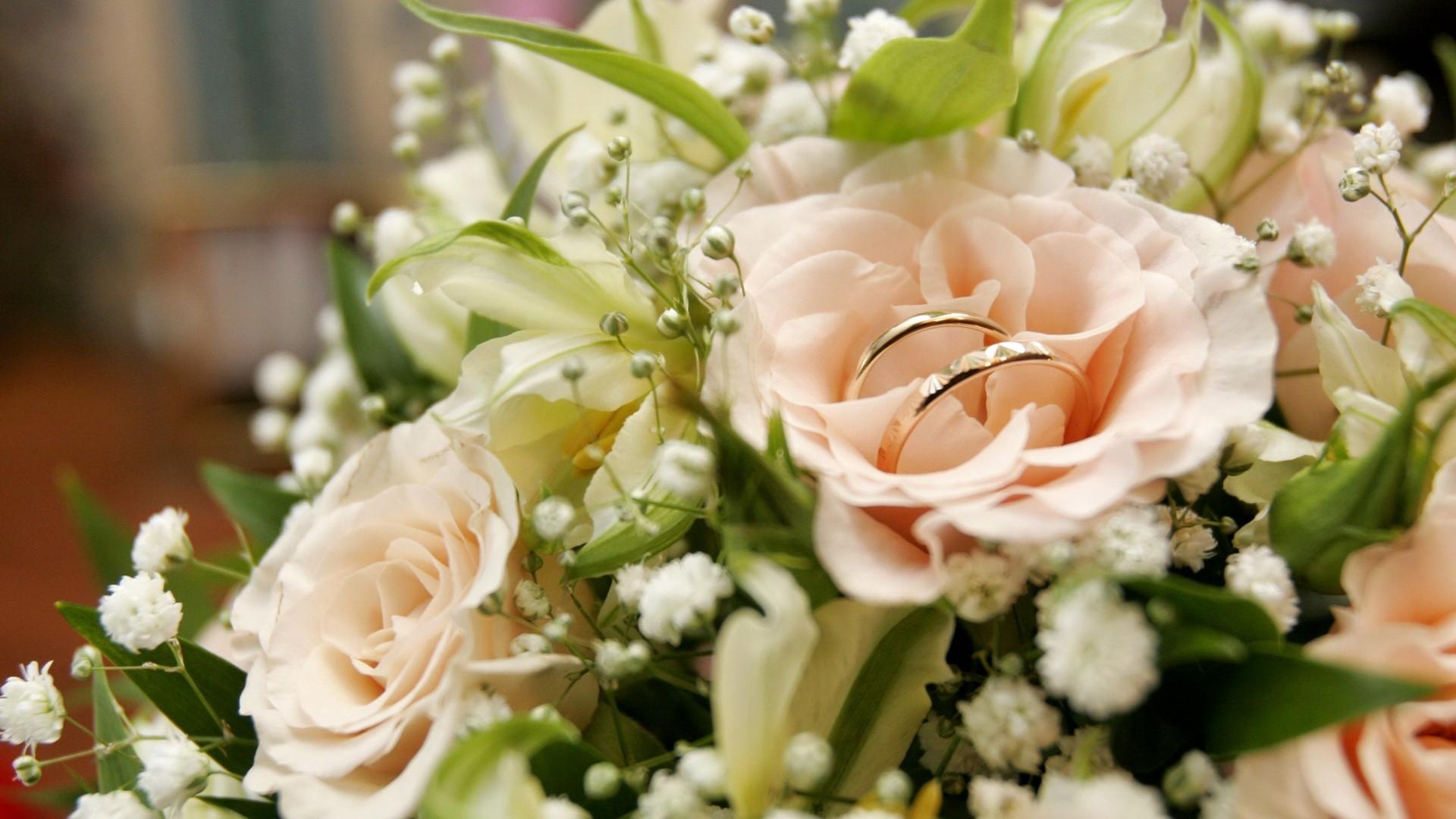 wedding  bouquet  roses  flower   Free  HD Wallpaper