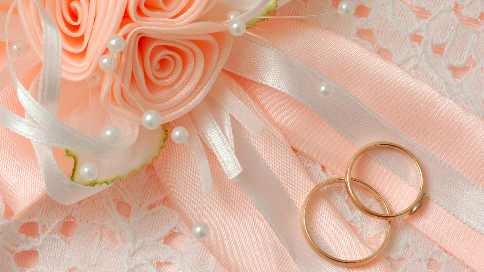 Ring Wedding and Pink Flower Picture HD  of Wedding HD Wallpaper
