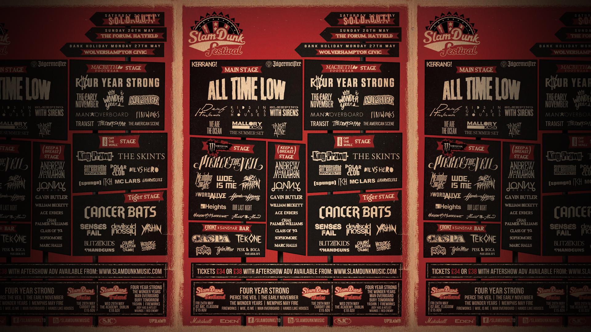 Slam Dunk Festival   Leeds   Bass Face Design HD Wallpaper