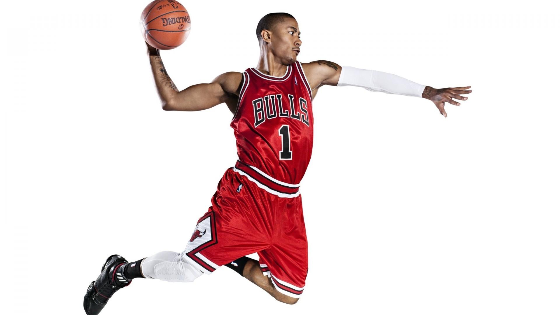 Derrick rose  nba  chicago bulls  basketball  slam dunk  adidas HD Wallpaper