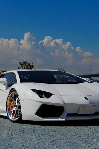 Lamborghini Aventador LP700 4  White      wallsheer  HD Wallpaper