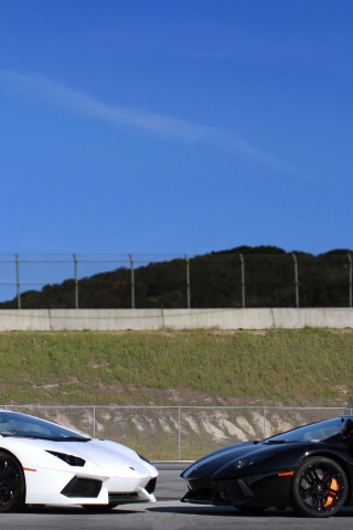 Lamborghini  Aventador  LP700 4  White  Black  Side    Feed HD Wallpaper