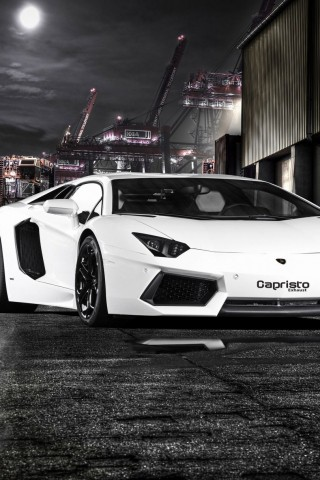 Lamborghini Aventador 2012 Picture White Roadster   us  HD Wallpaper