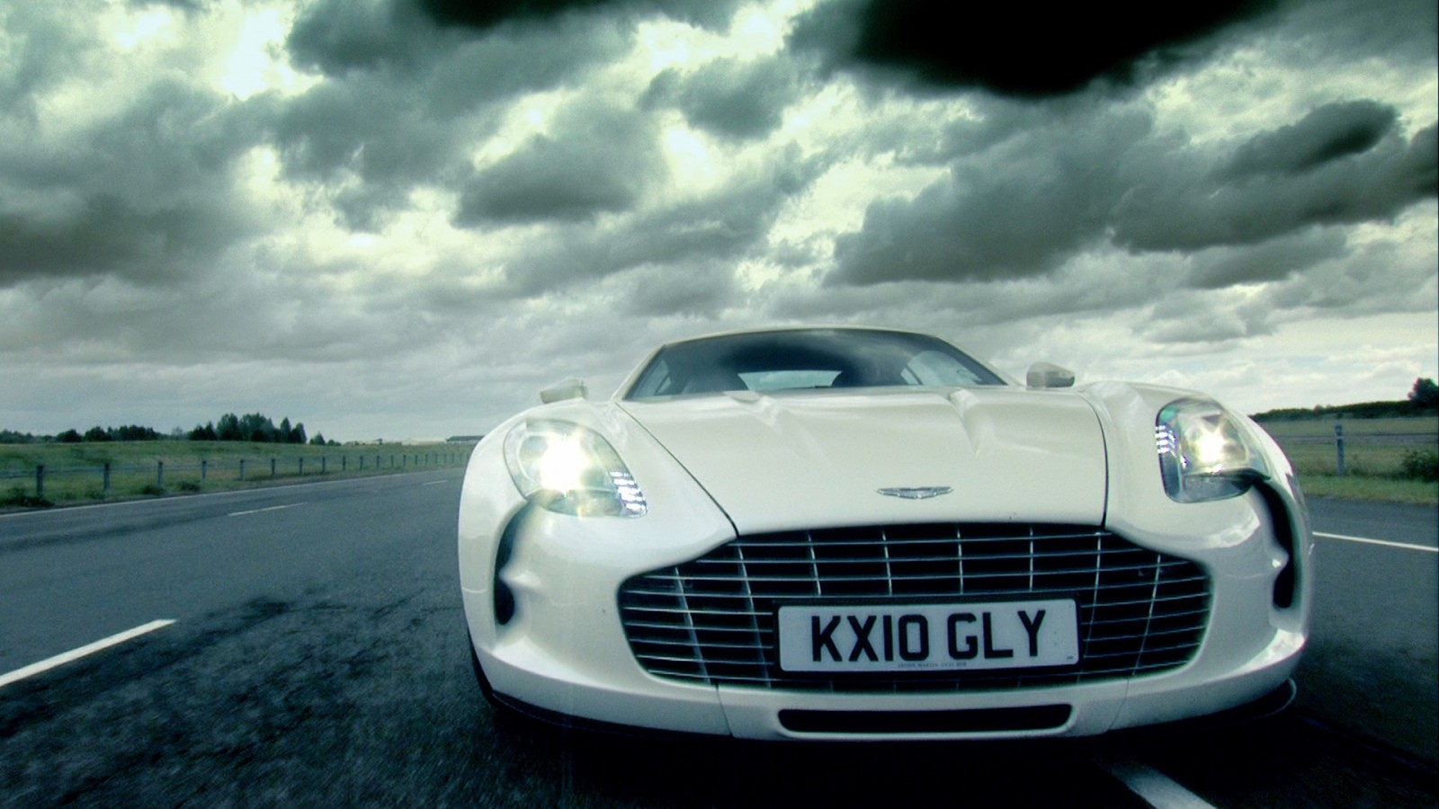 aston martin one 77  uk  flagship  costly  sport car  front  dusk HD Wallpaper