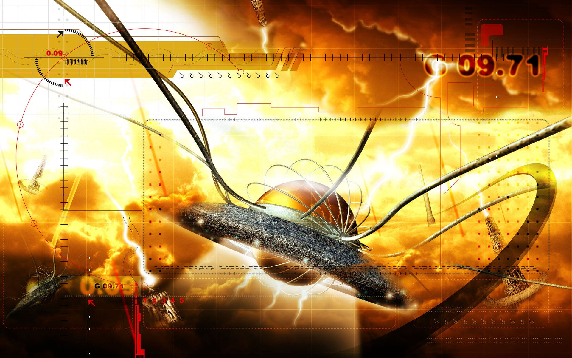 Flying Saucer    Design HD Wallpaper