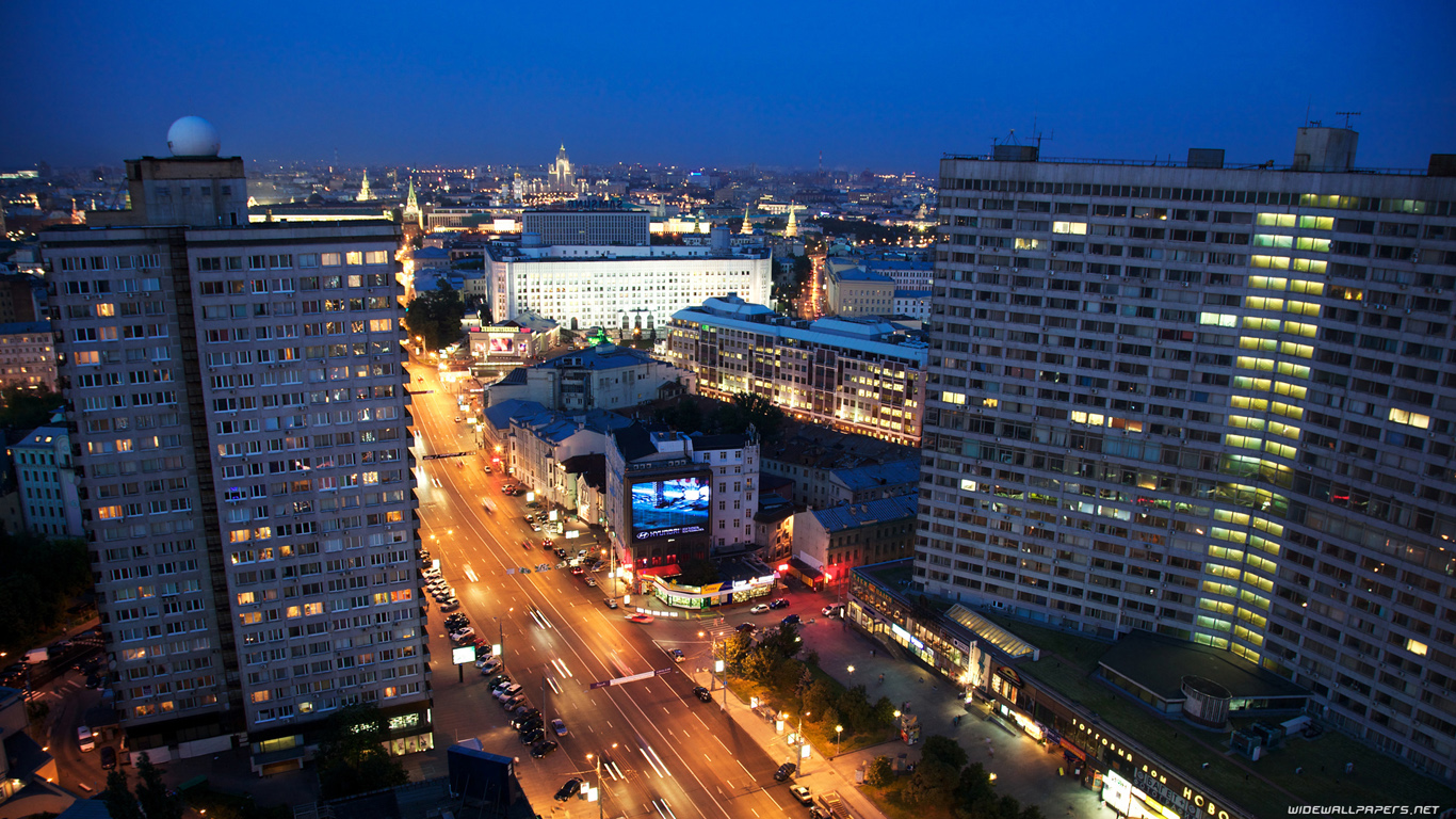 Moscow Wide And Hd 1366x768 HD Wallpaper