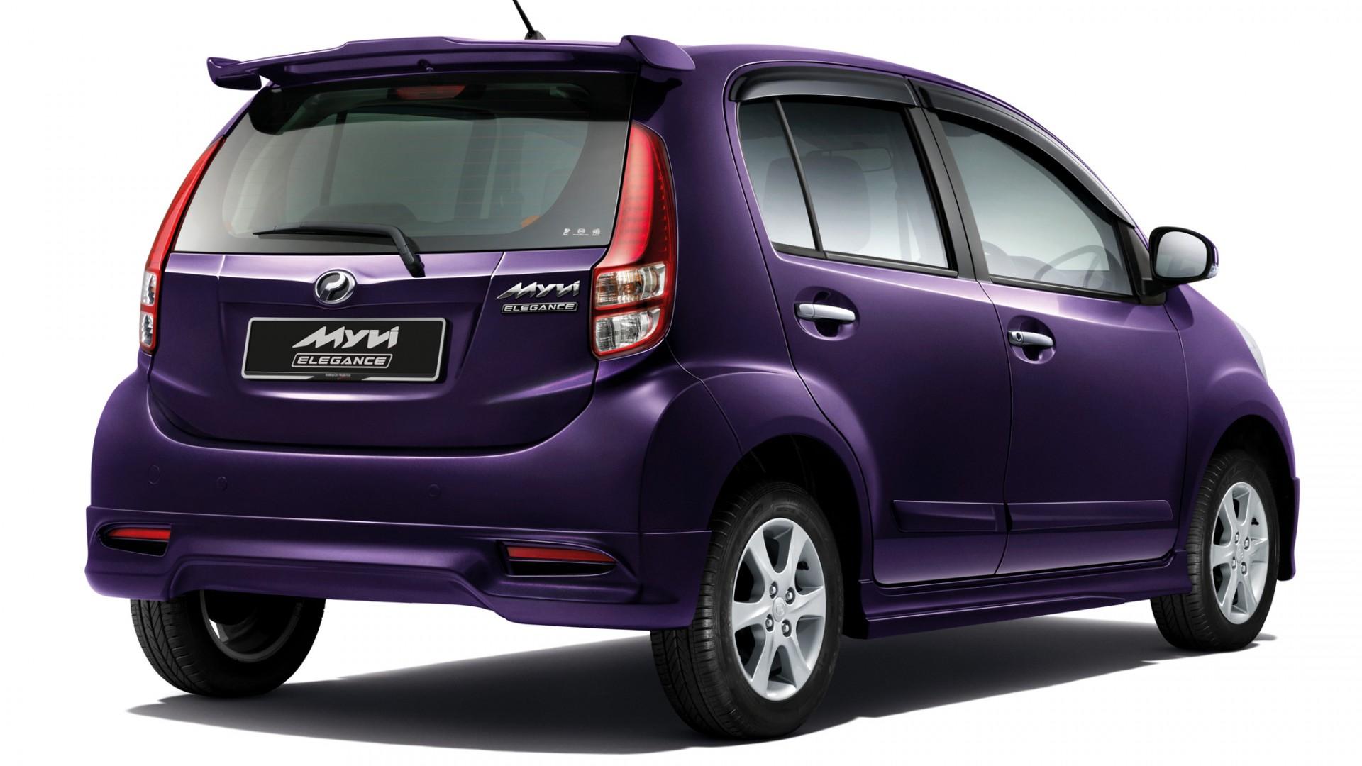 2011 Perodua MyVi Elegance Rear Angle   Car  free download HD Wallpaper