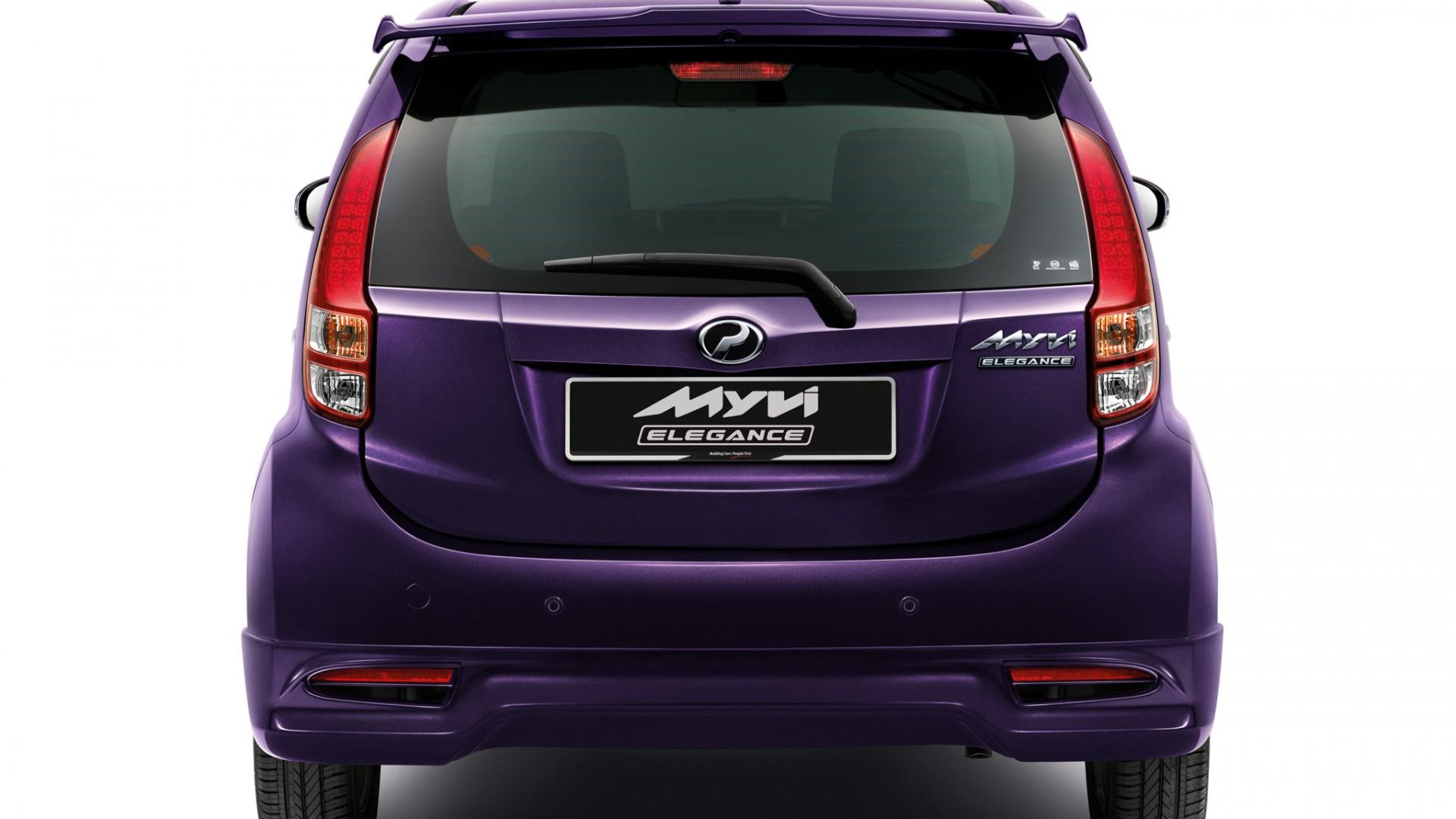 2011 Perodua MyVi Elegance rear   Car  free download HD Wallpaper