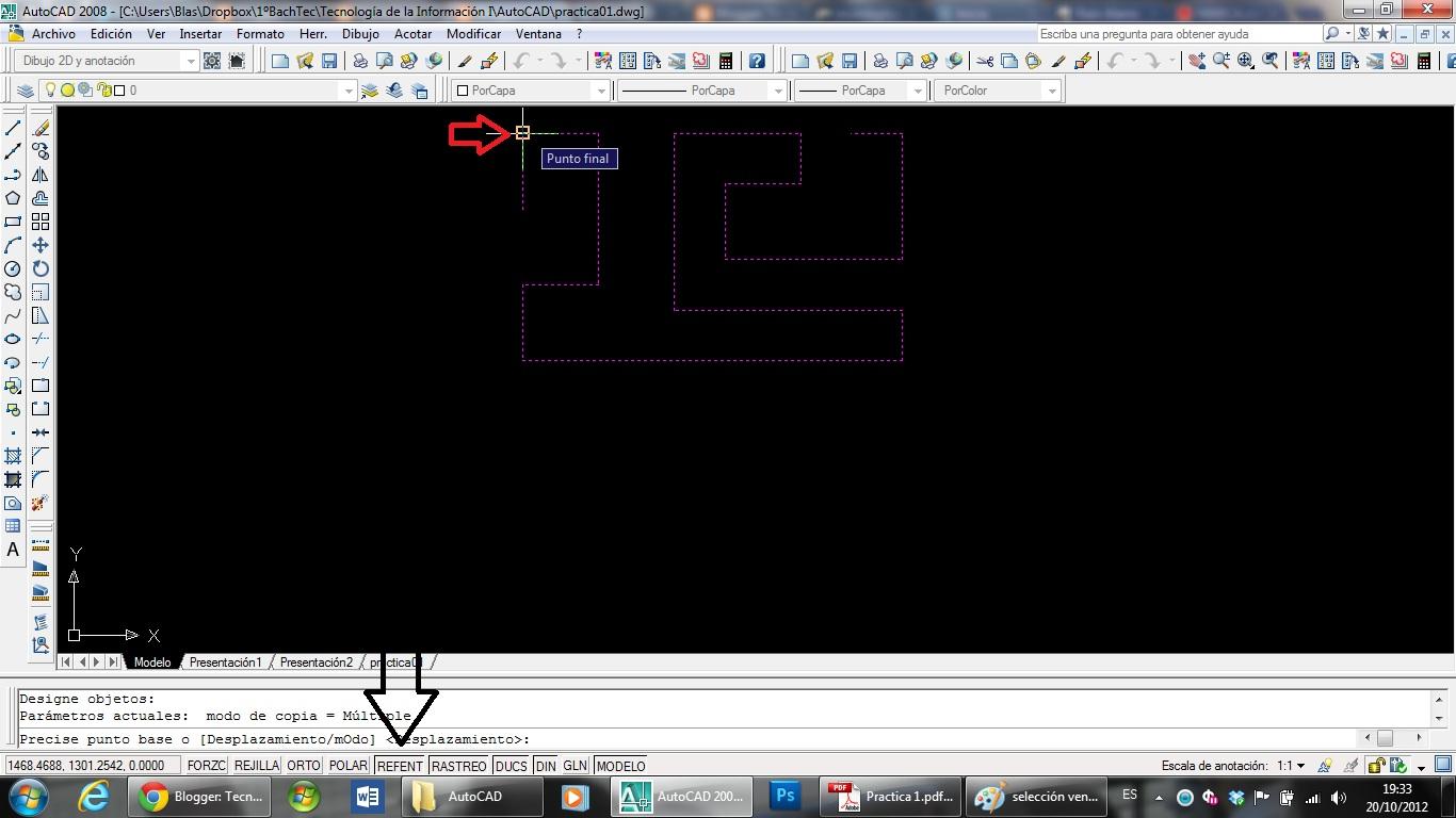 AutoCAD  Practica 1  L nea  Empalme  Chafl n  Copiar  Seleccionar HD Wallpaper