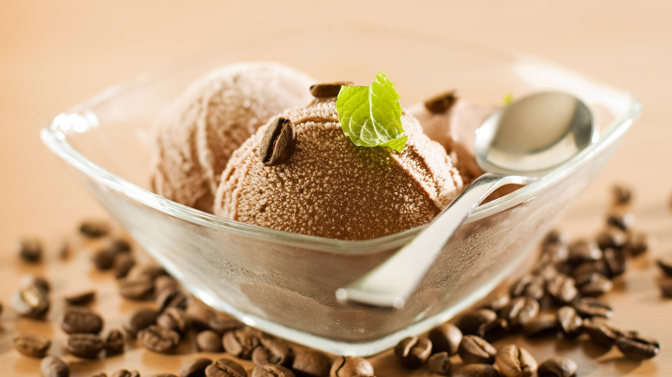 Brown Coffe Ice Cream Mints HD    Fruits  HD Wallpaper