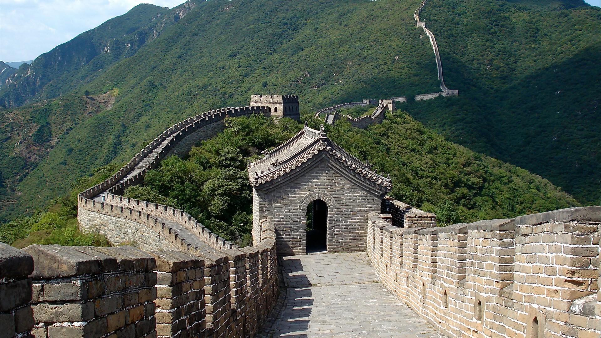 Great Wall of China  CHINA  Greenary Of Nearest China Wall HD Wallpaper