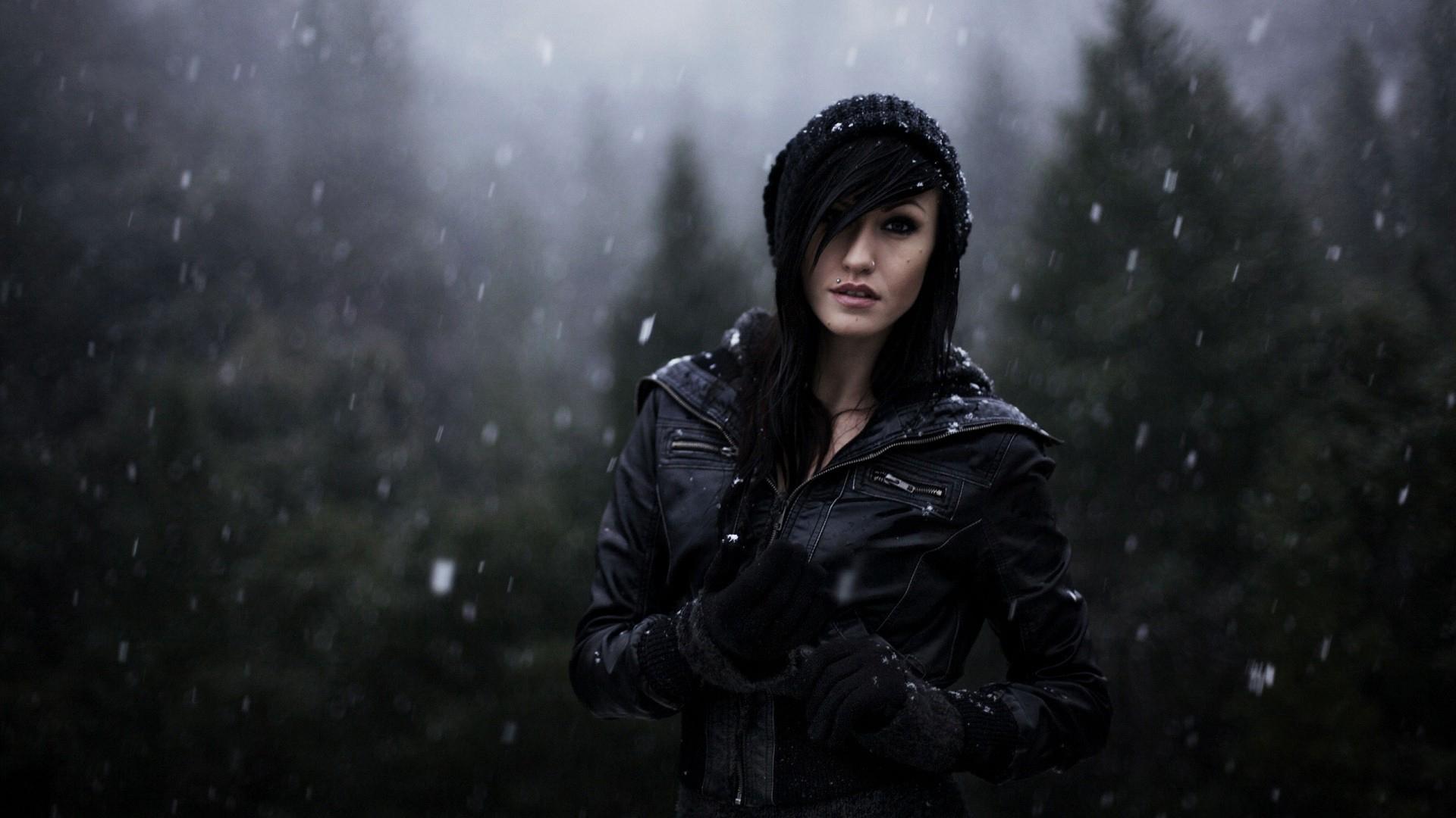 beautiful girl with black jacket HD   HD  HD Wallpaper