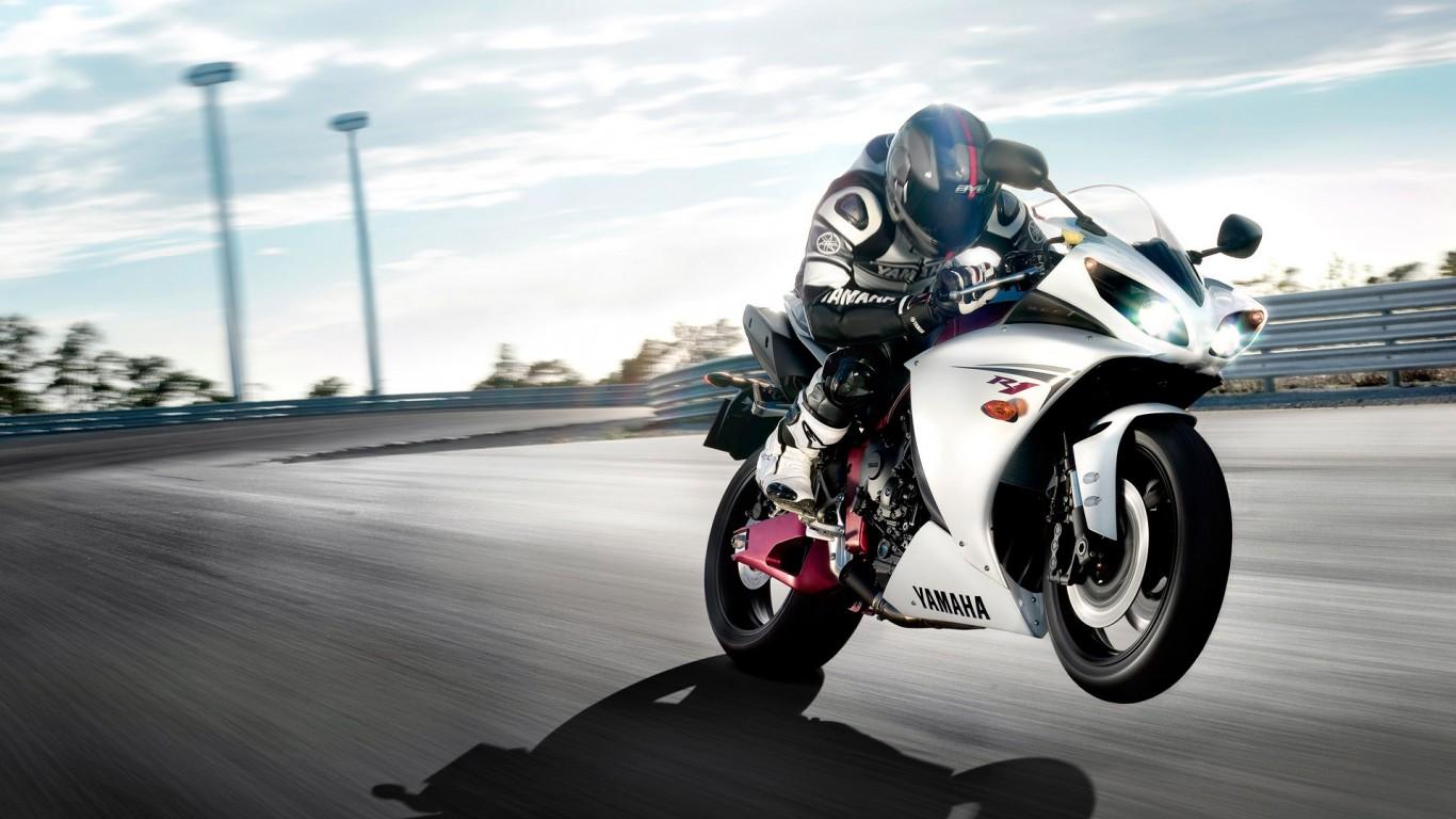 Yamaha Bike Ride Hd Bike 1366x768 Hd  Jootix  HD Wallpaper