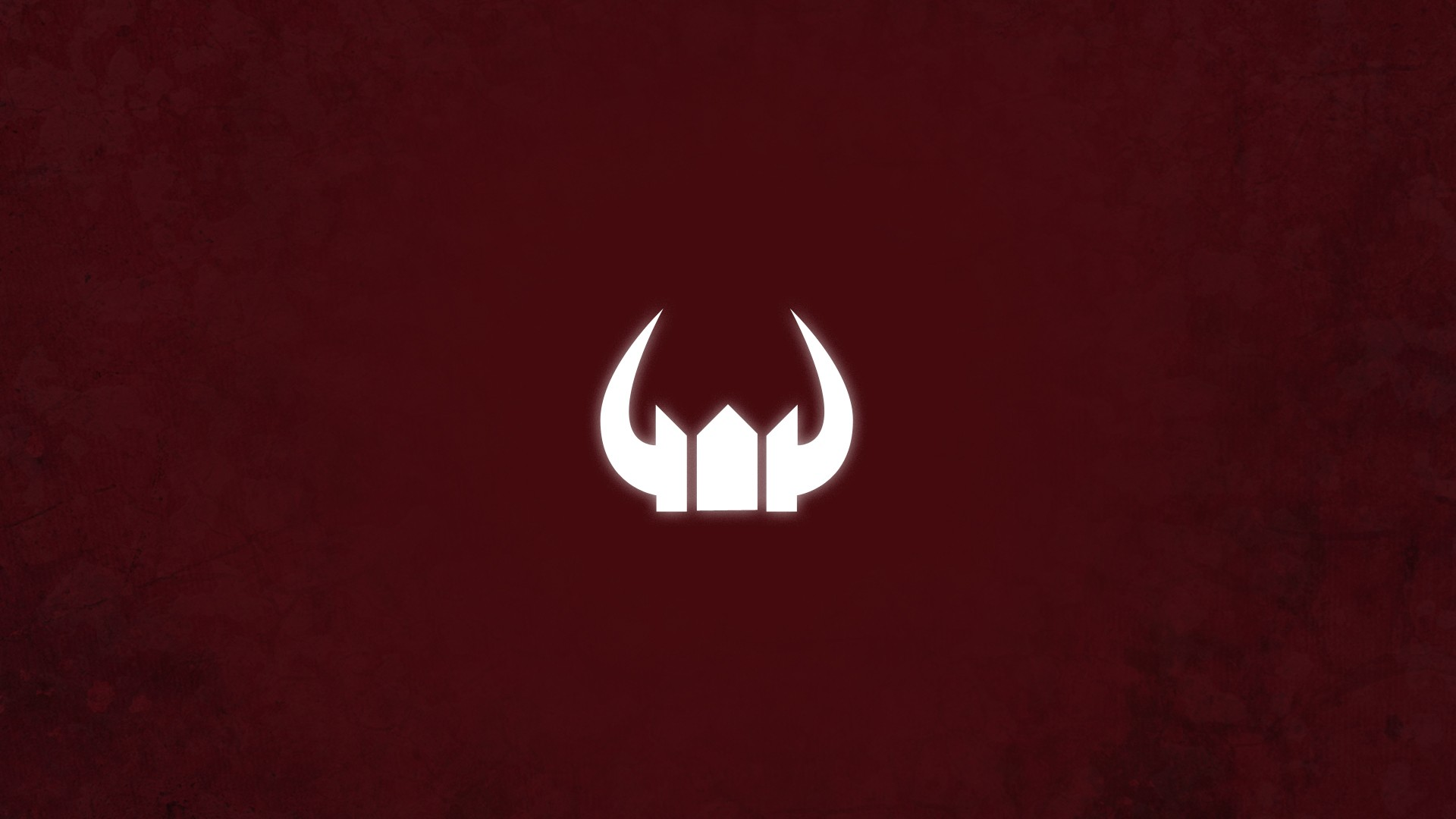 Minimalistic Red Black Rock Shooter Symbol Horns Black Gold Saw HD Wallpaper