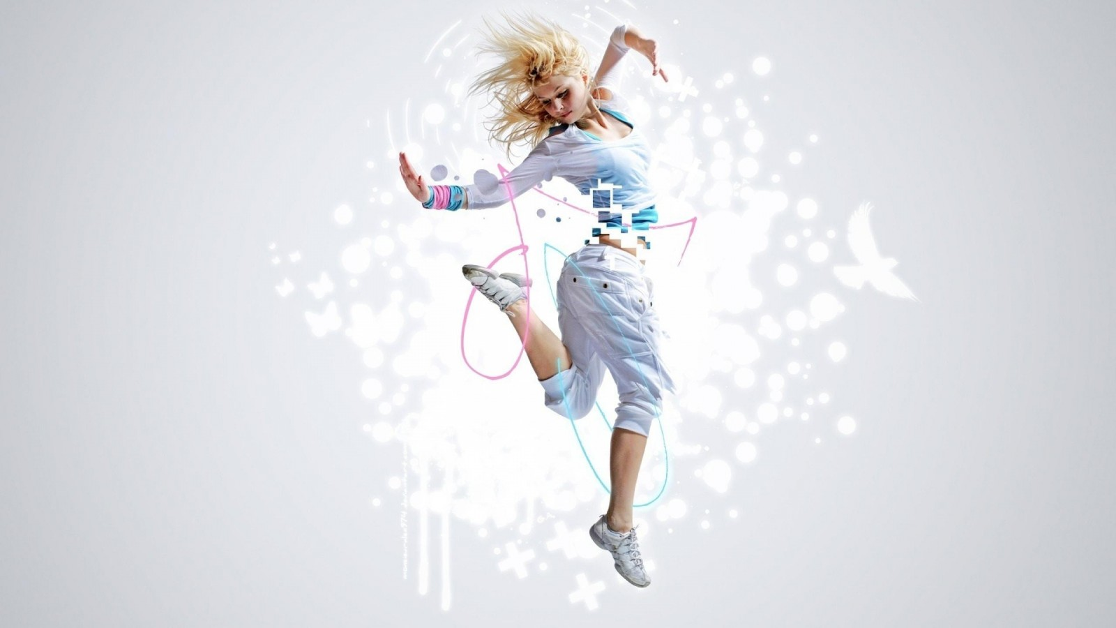 Dance Leap Movement Freedom Music Rhythm Girl Dancer    HD HD Wallpaper